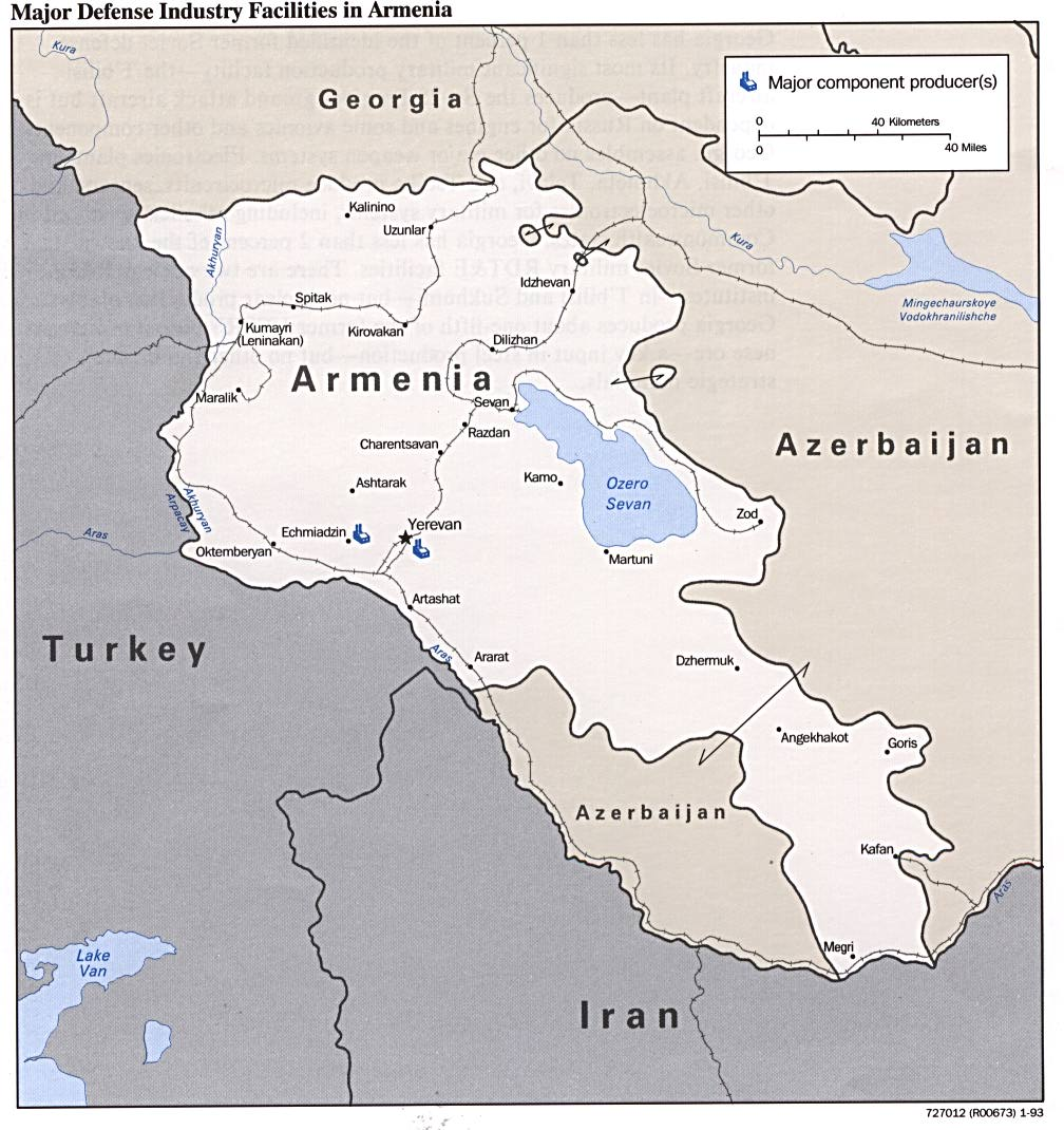 Armenia Defense Facilities Map - Armenia • mappery