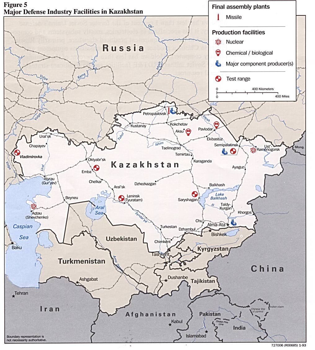 Kazakhstan maps perry castaeda map collection ut library online kazakhstan major defense industry facilities in kazakhstan gumiabroncs Choice Image