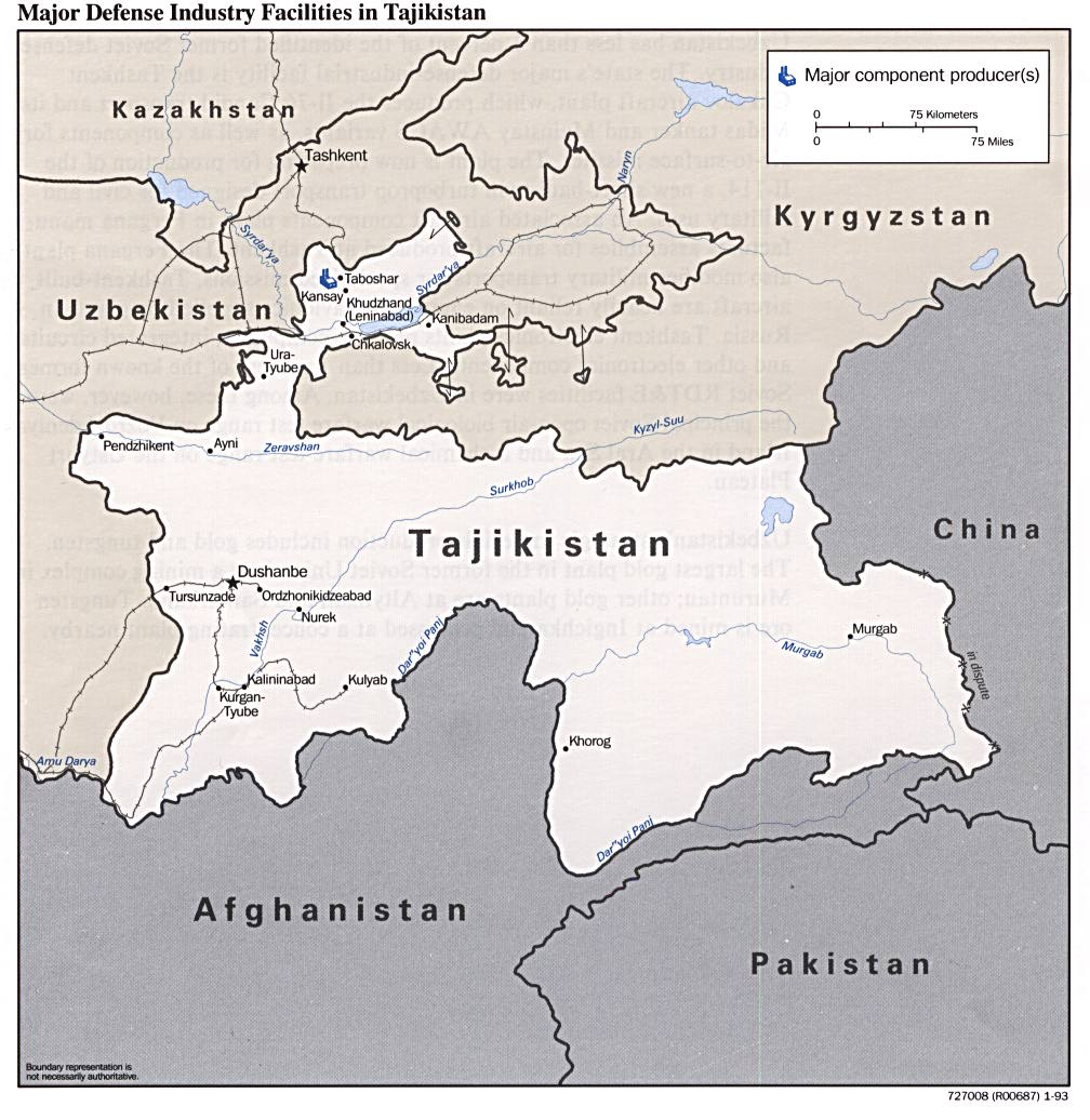 Tajikistan Maps PerryCastaeda Map Collection UT Library Online
