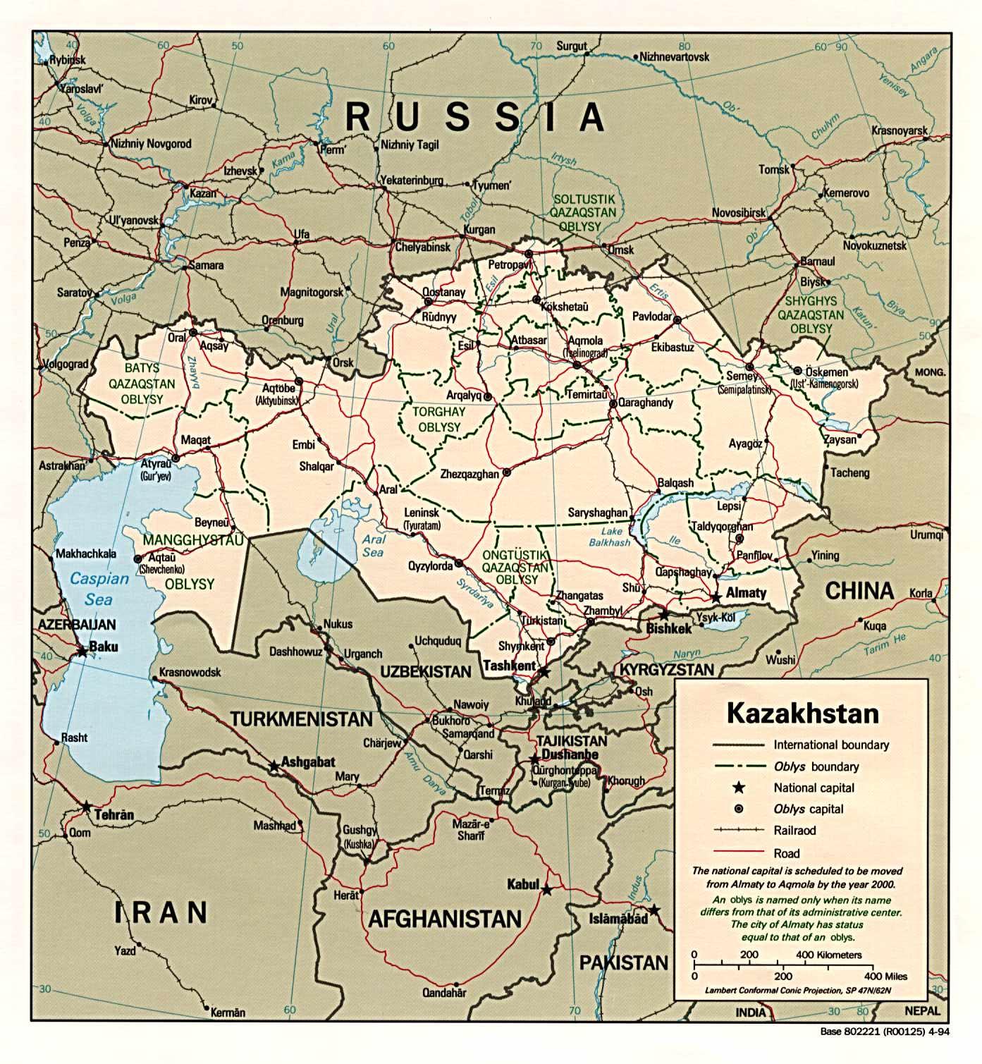 kazahsztán térkép Kazahsztán   Térkép kazahsztán térkép
