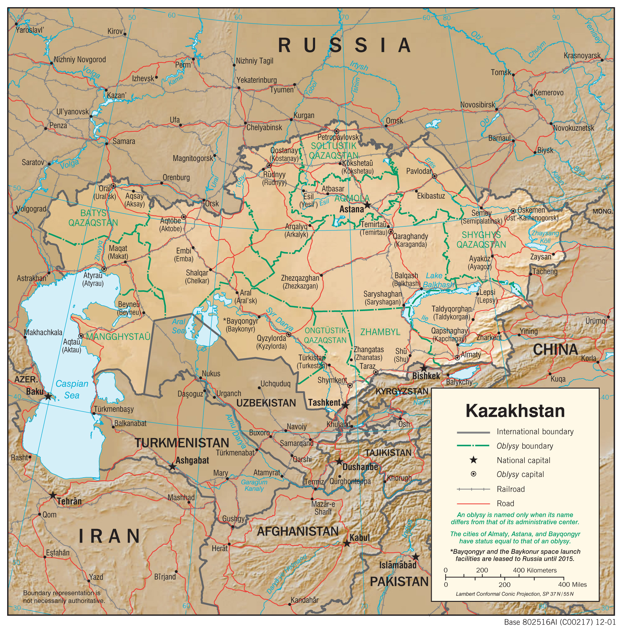 Kazakhstan Maps Perry Castaneda Map Collection Ut Library Online