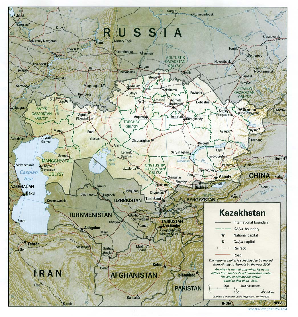 Kazakhstan Maps - Perry-Castañeda Map Collection - UT Library Online