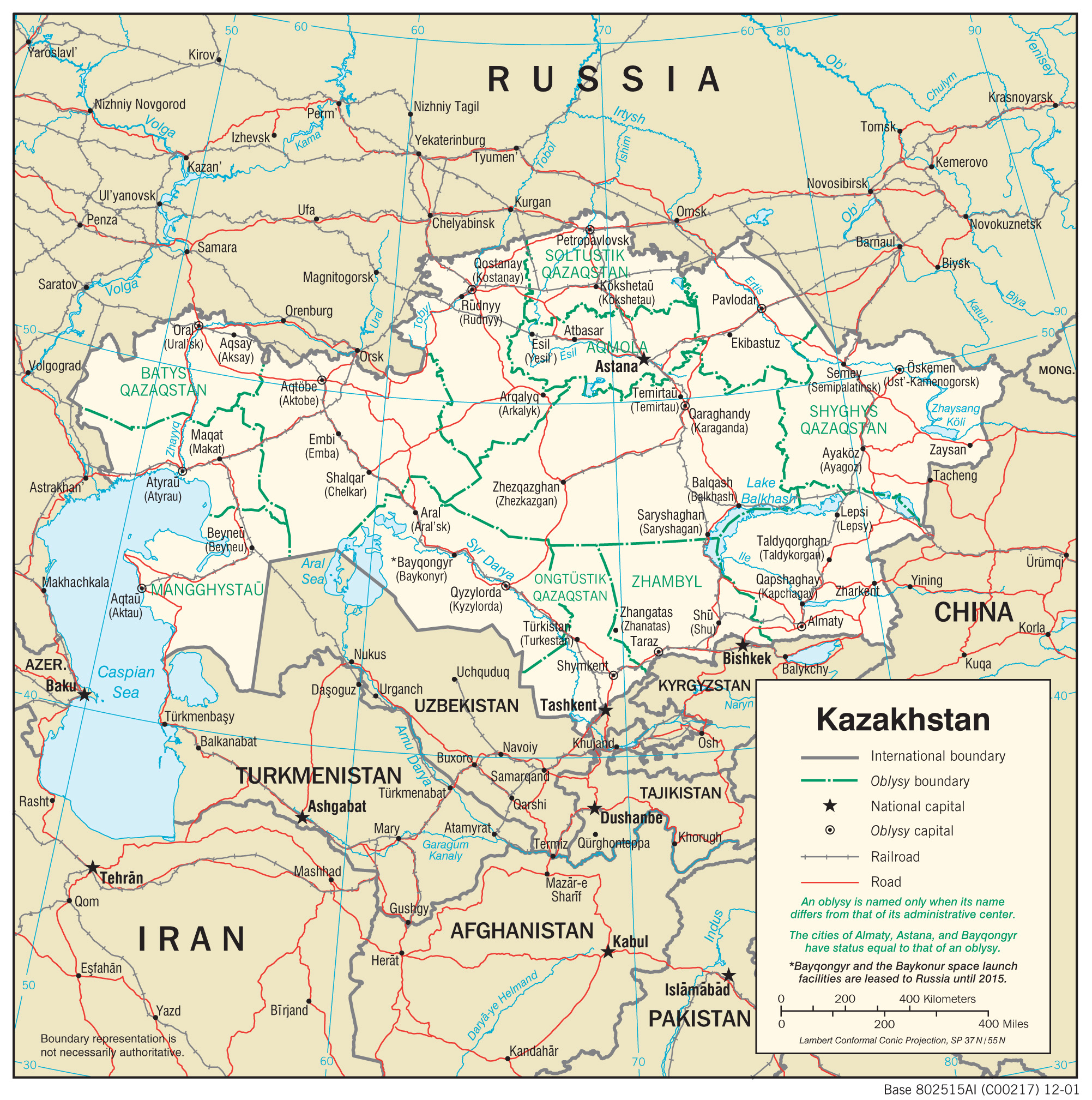 Map Of Kazakhstan Kazakhstan Maps   Perry Castañeda Map Collection   UT Library Online