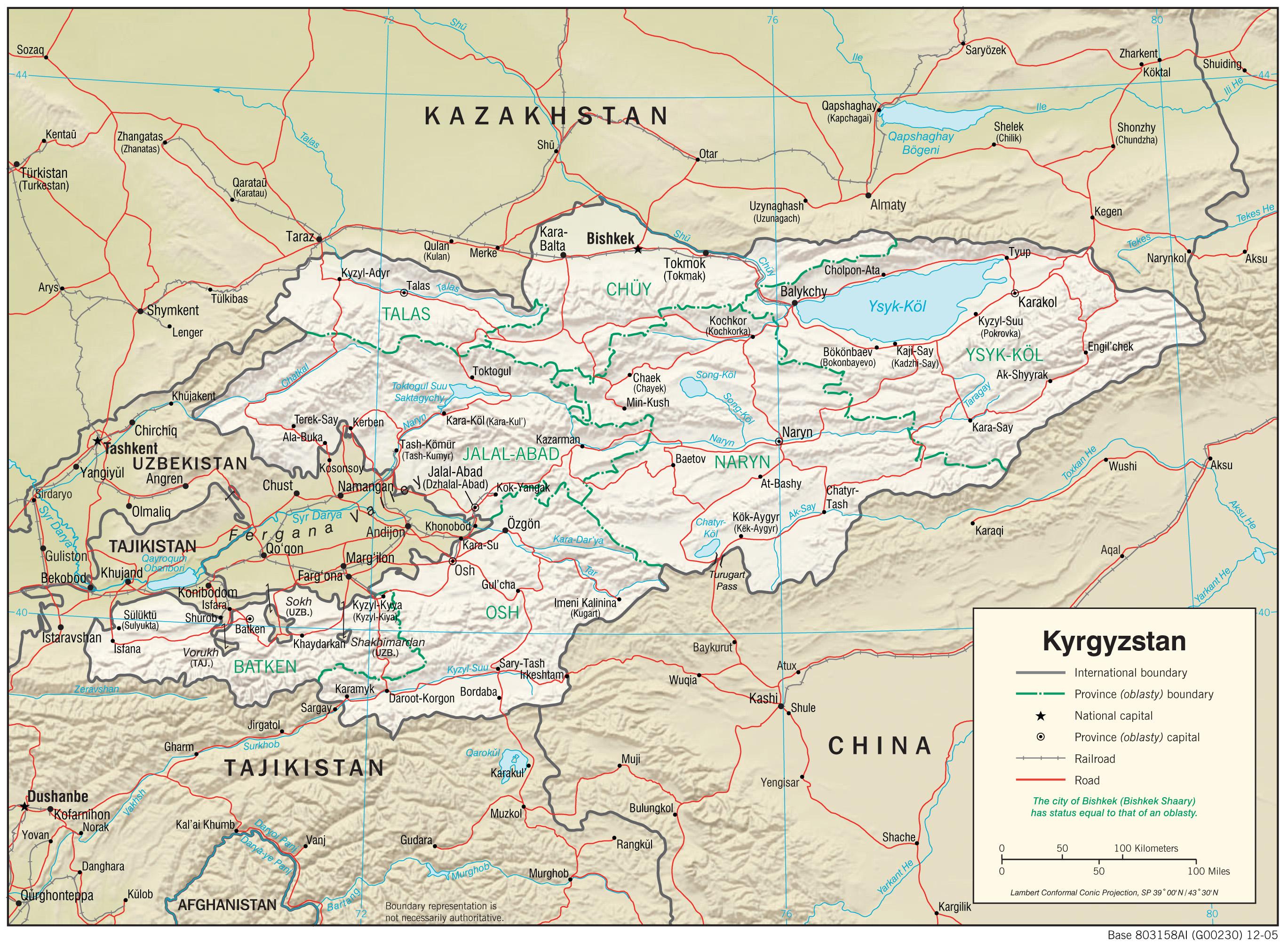 Kyrgyzstan Maps PerryCastañeda Map Collection UT Library Online - Kyrgyzstan map
