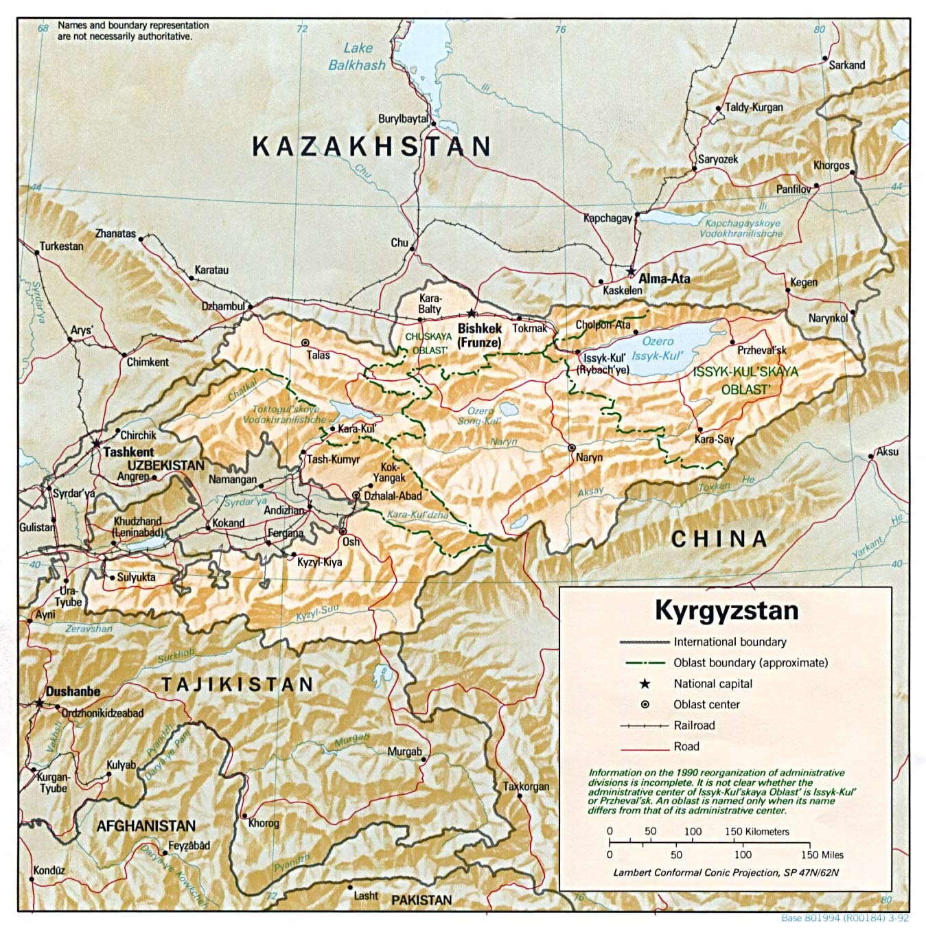 Kyrgyzstan Maps PerryCastaeda Map Collection UT Library Online