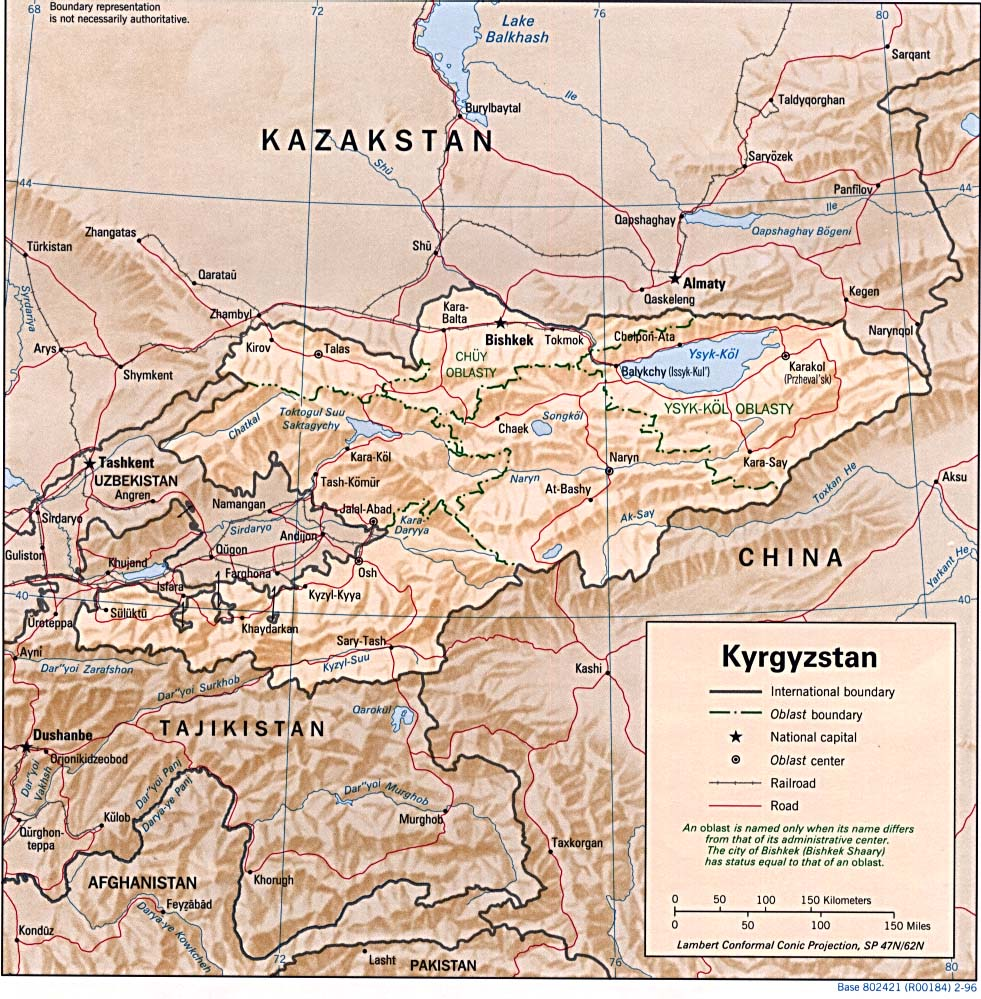 Kyrgyzstan Maps - Perry-Castañeda Map Collection - UT Library Online