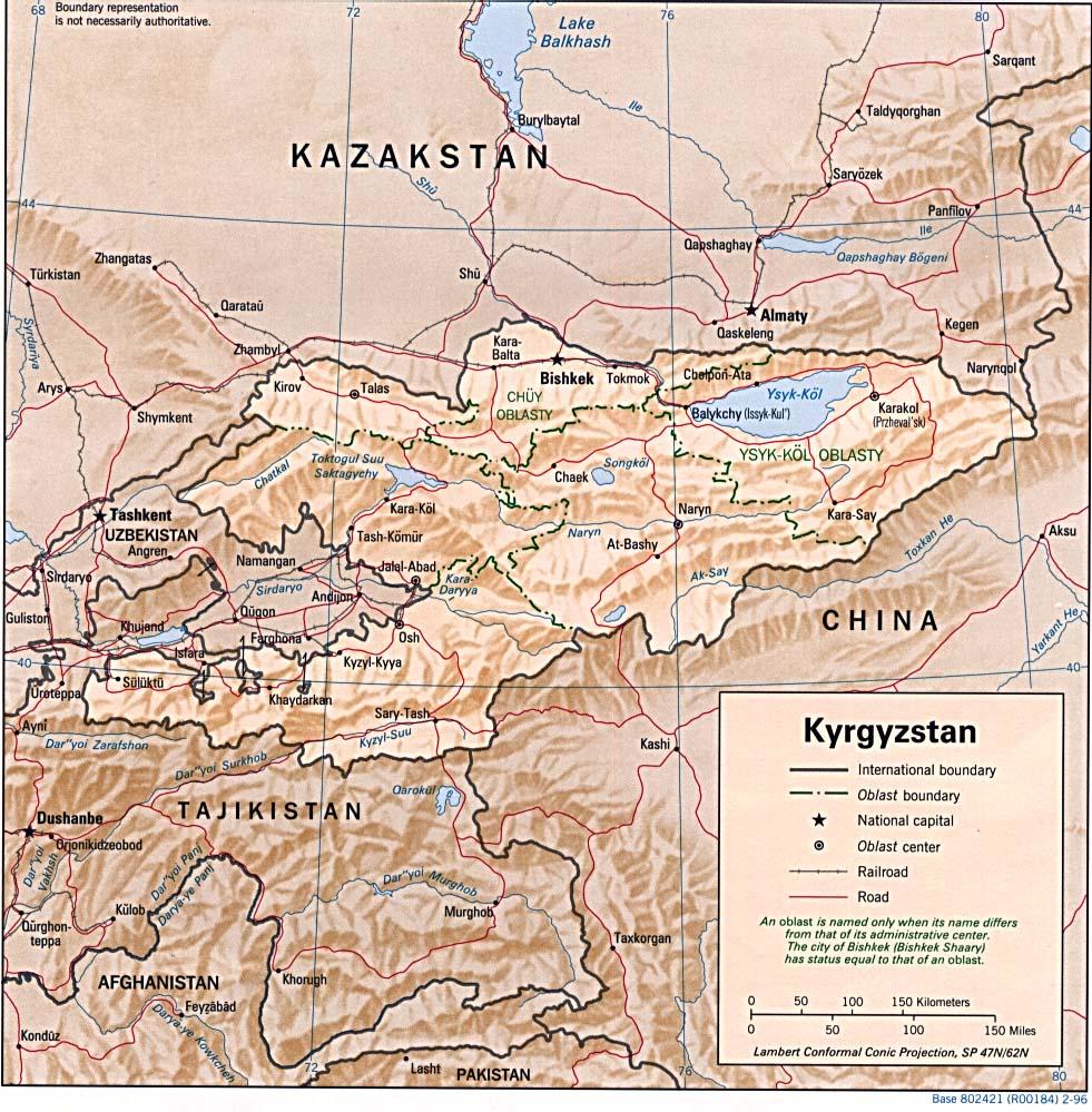 Maps of Kyrgyzstan