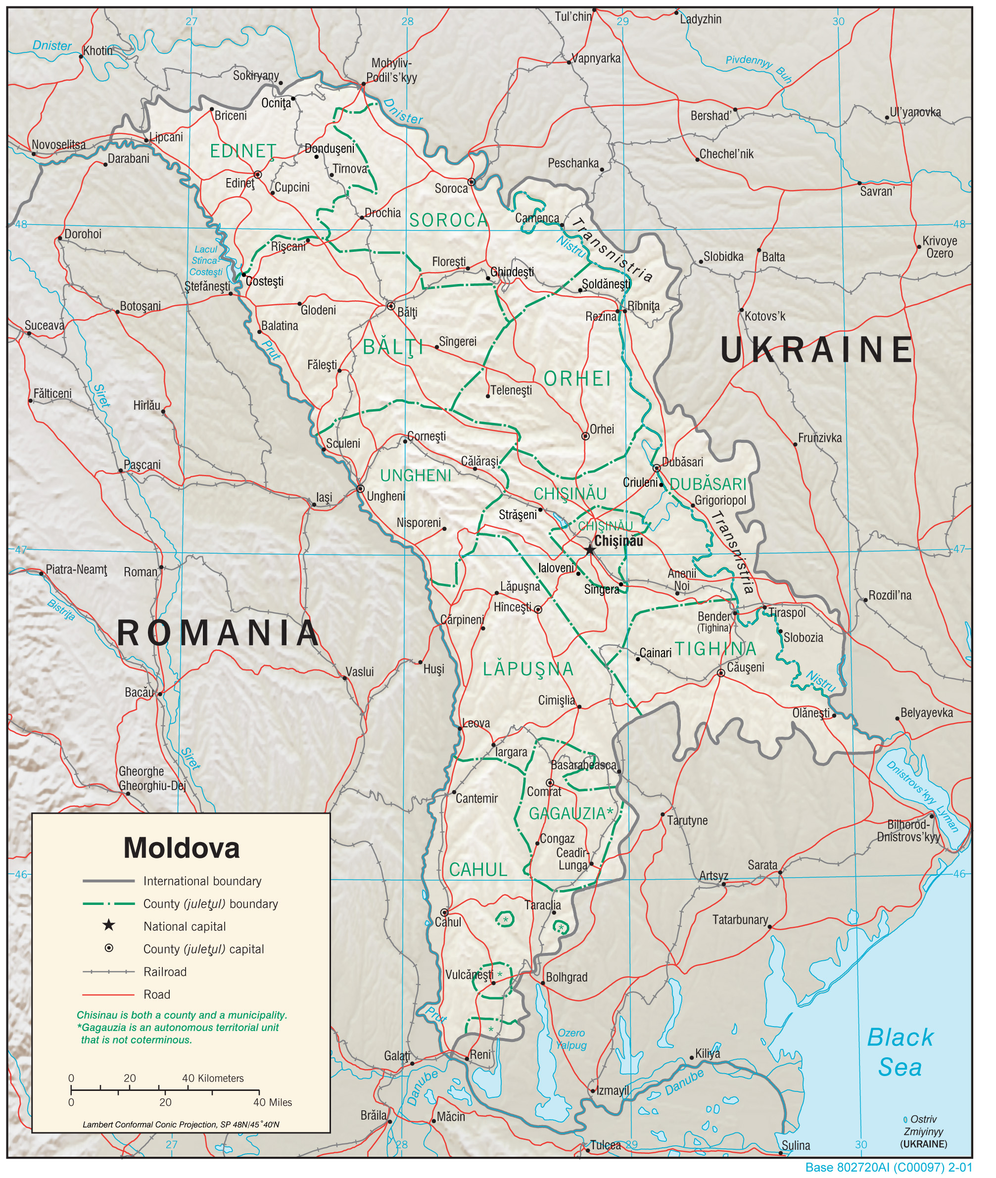 Moldova Maps Perry Castañeda Map Collection UT Library