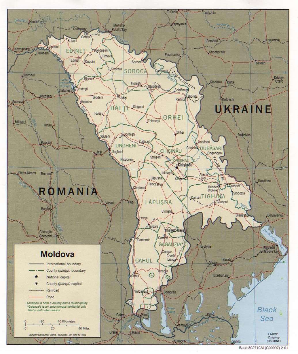 Maps Of Moldova