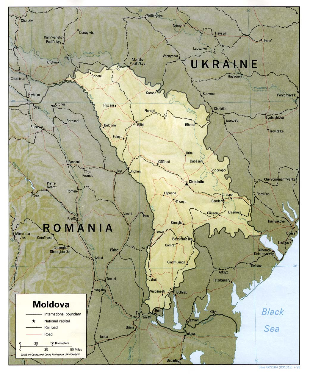 Moldova Maps PerryCastaeda Map Collection UT Library Online
