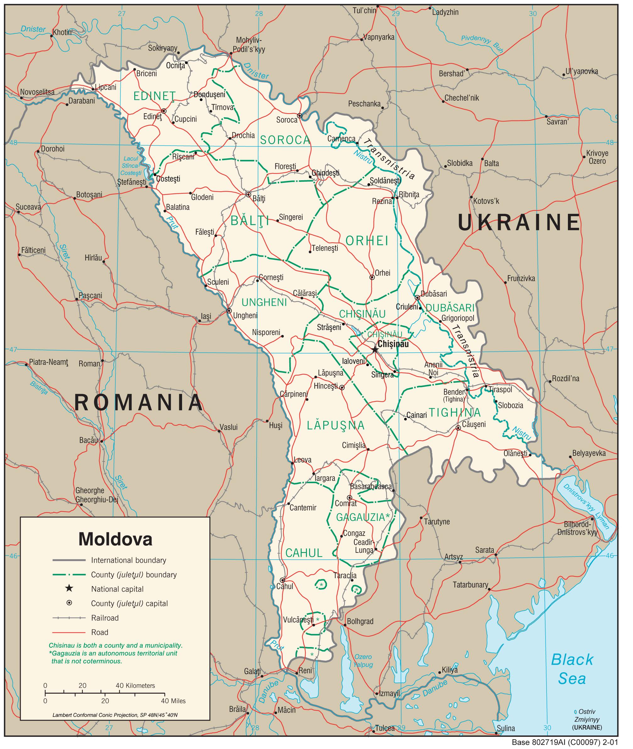 Moldova Map Geography Of Moldova Map Of Moldova Worldatlascom - Moldova interactive map