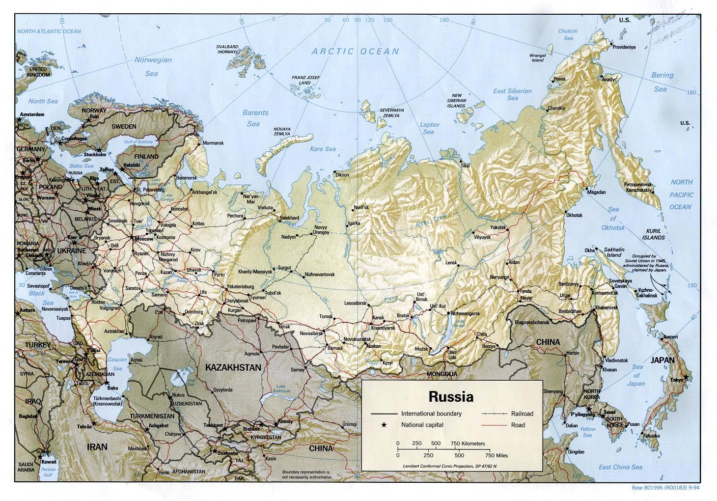 Russia and former soviet republics maps on other web sites