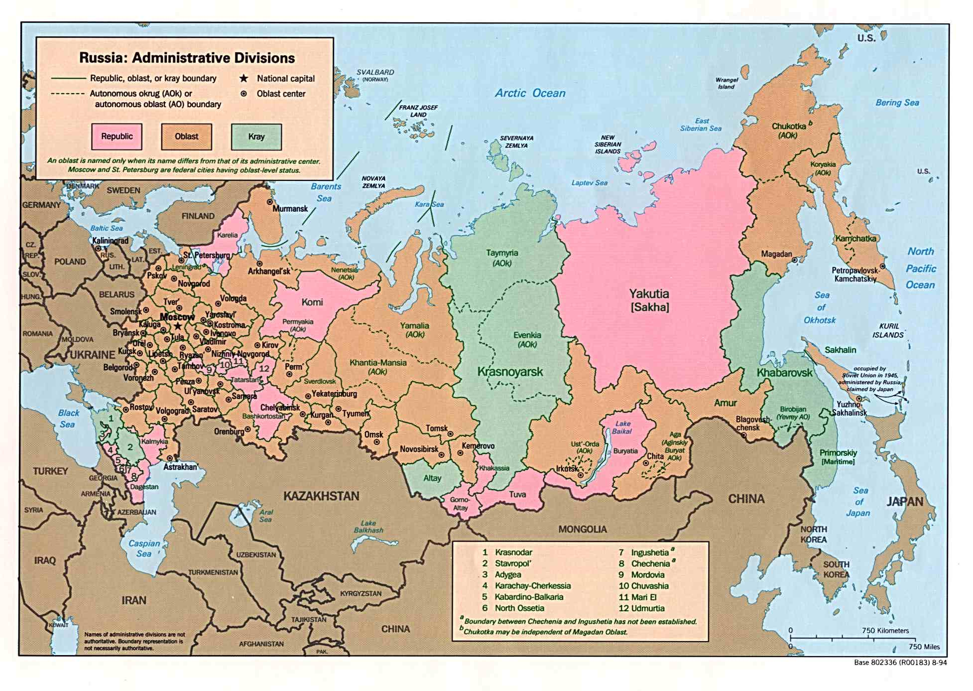 Map Of Russia - Russia on map