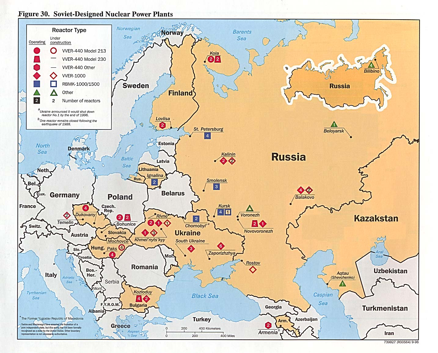 Russia And The Former Soviet Republics Maps PerryCastañeda Map - Map of all nuclear power plants in the us