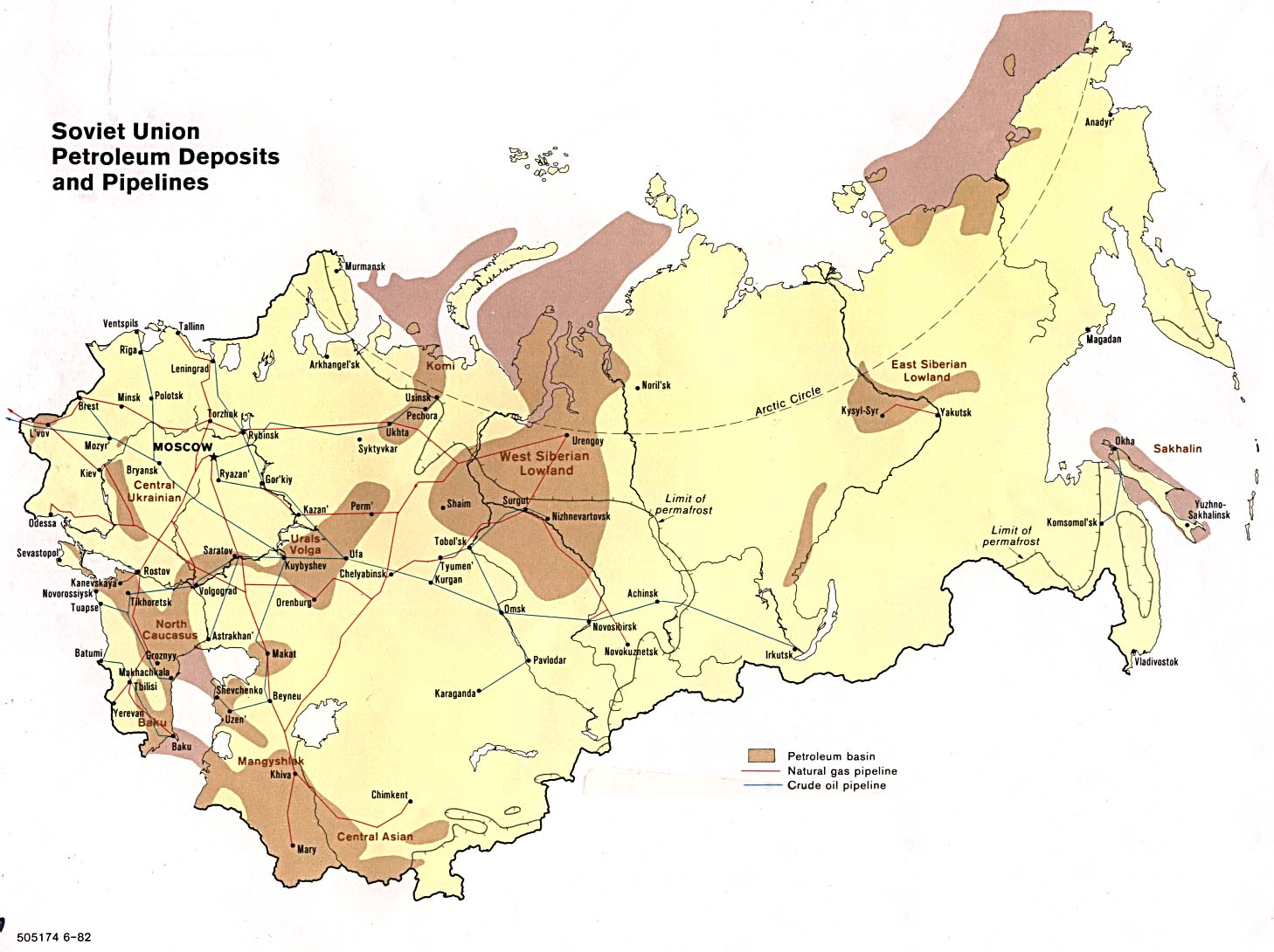 Picture of: Federacion Rusa Yacimientos De Petroleo Http Www Lib Utexas Edu Maps Commonwealth Soviet Pet Deposit 82 Jpg