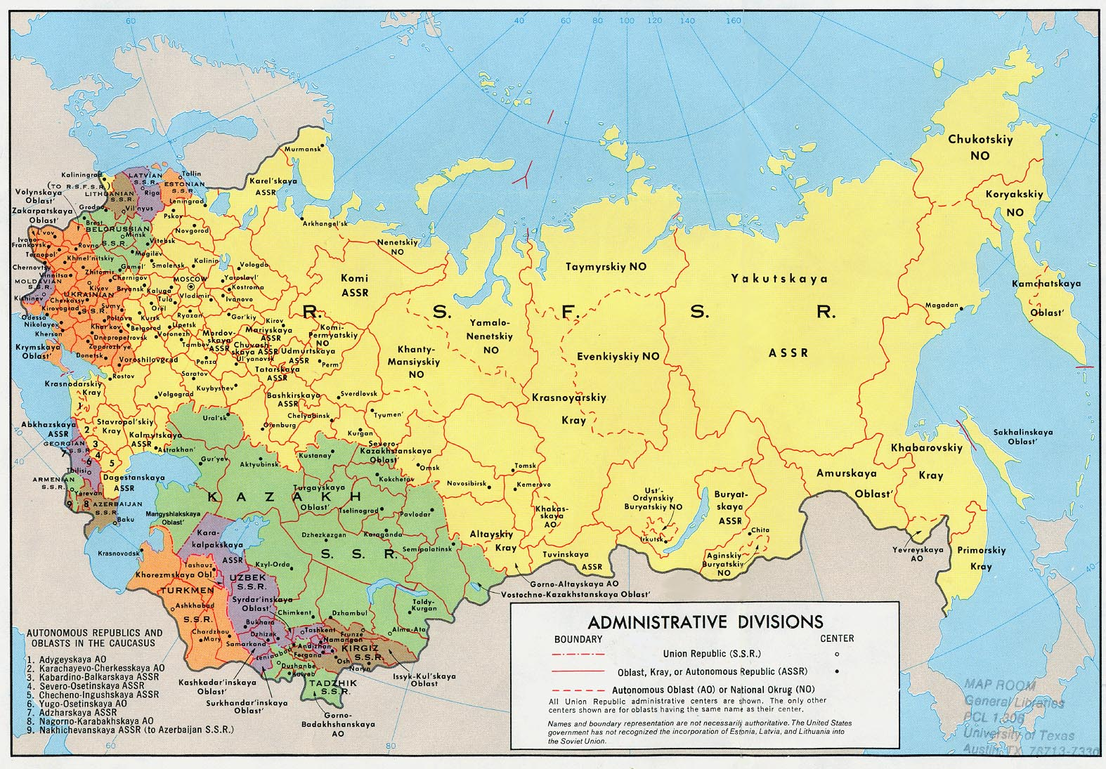 Russia and the Former Soviet Republics Maps   Perry Castañeda Map