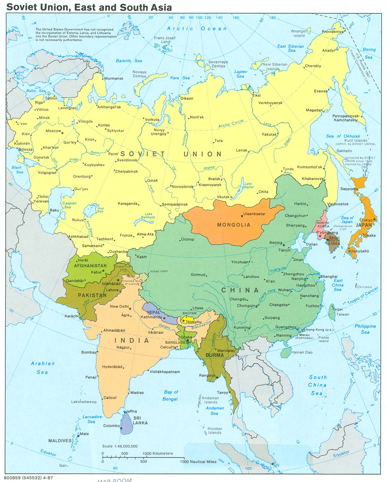 soviet union east and south asia