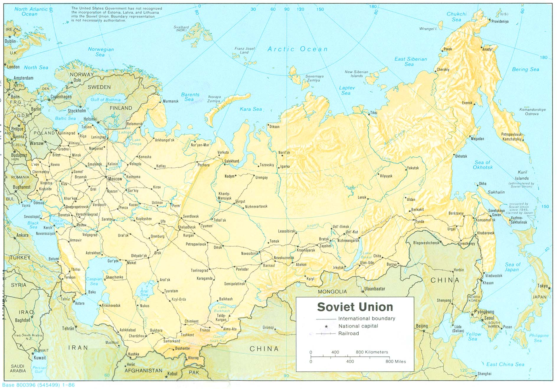 Russia and the Former Soviet Republics Maps - Perry-Castañeda Map ...