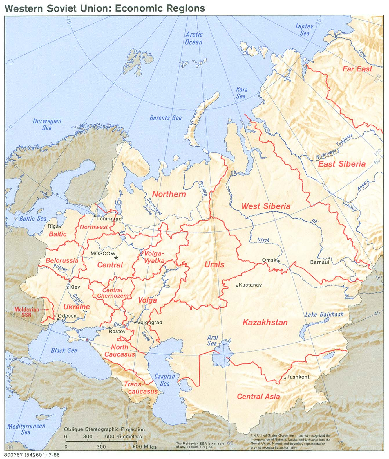 Russia and the former soviet republics maps perry castaeda map soviet union western economic regions gumiabroncs Image collections