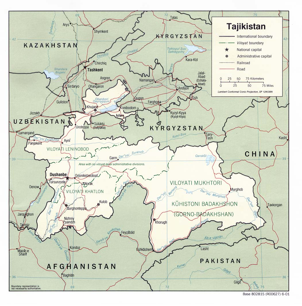 Tajikistan Maps - Perry-Castañeda Map Collection - UT Library Online