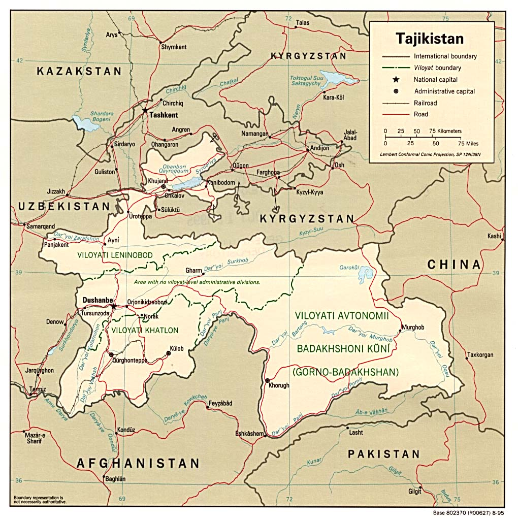 Map Of Tajikistan Tajikistan Maps   Perry Castañeda Map Collection   UT Library Online