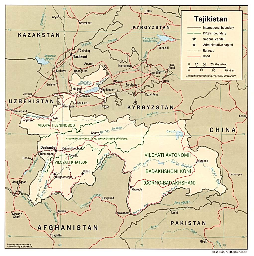 Tajikistan Maps ecoinet