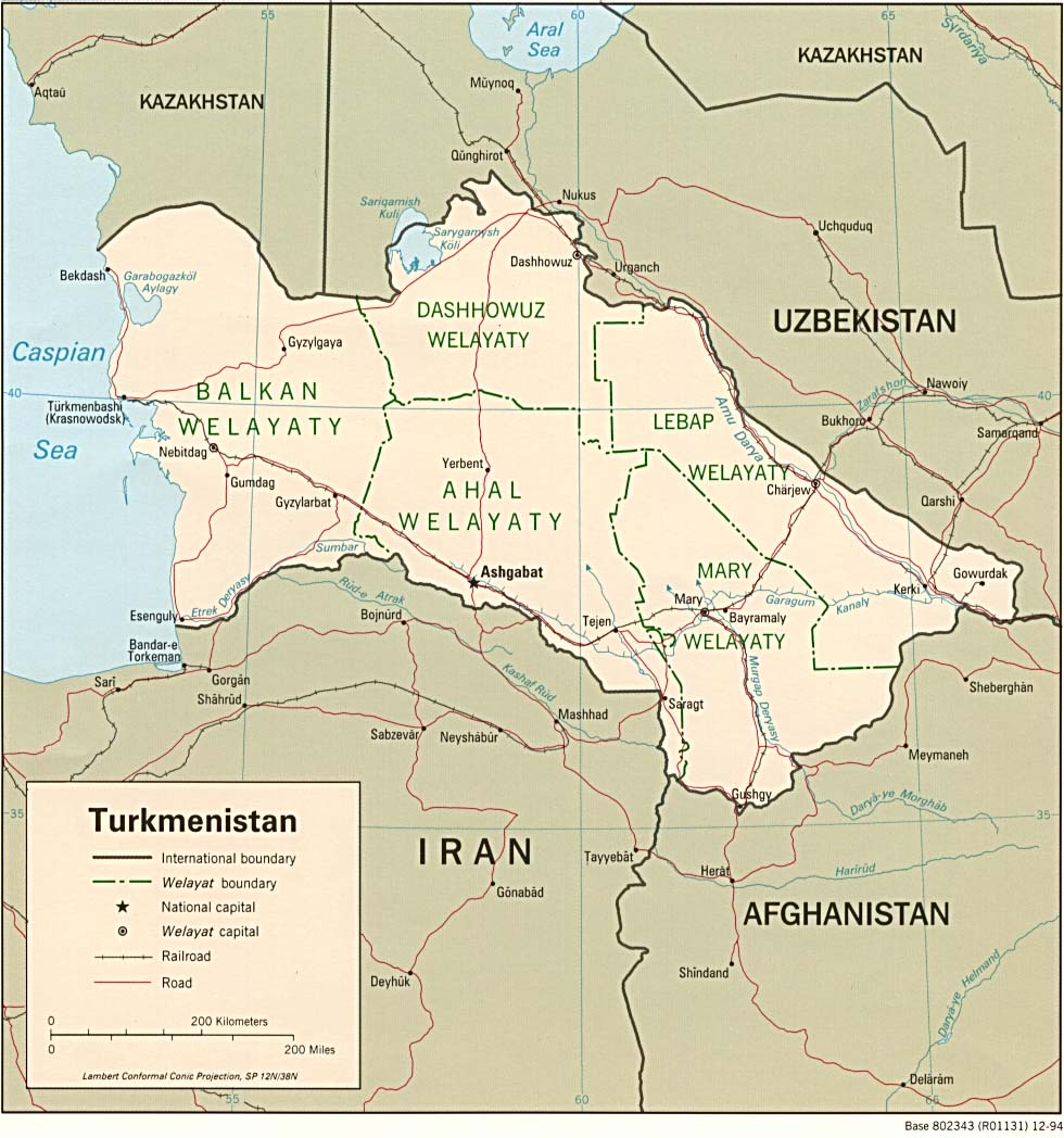 Turkmenistan Maps - Perry-Castañeda Map Collection - UT Library ...