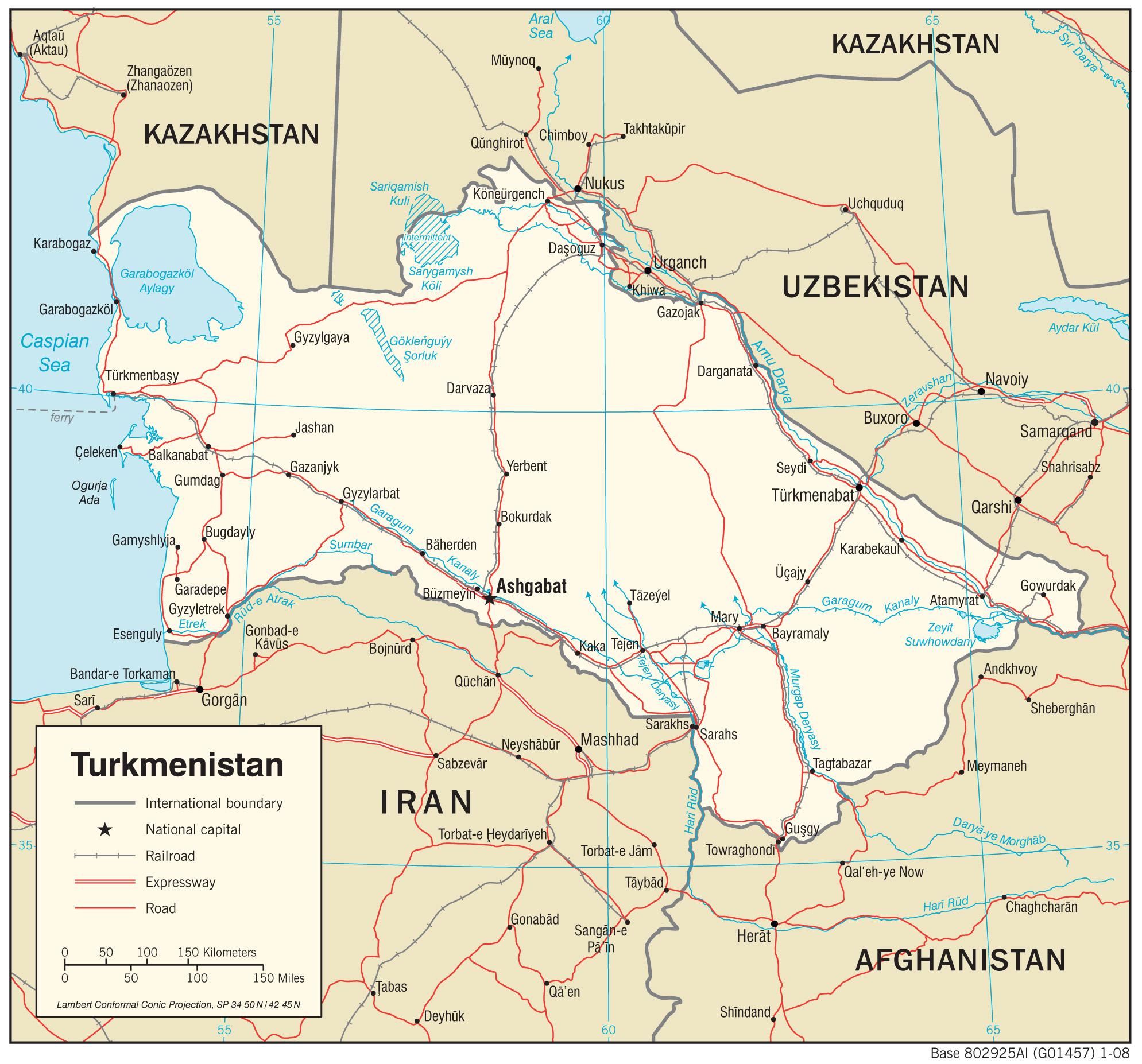 central asia turkmenistan entry