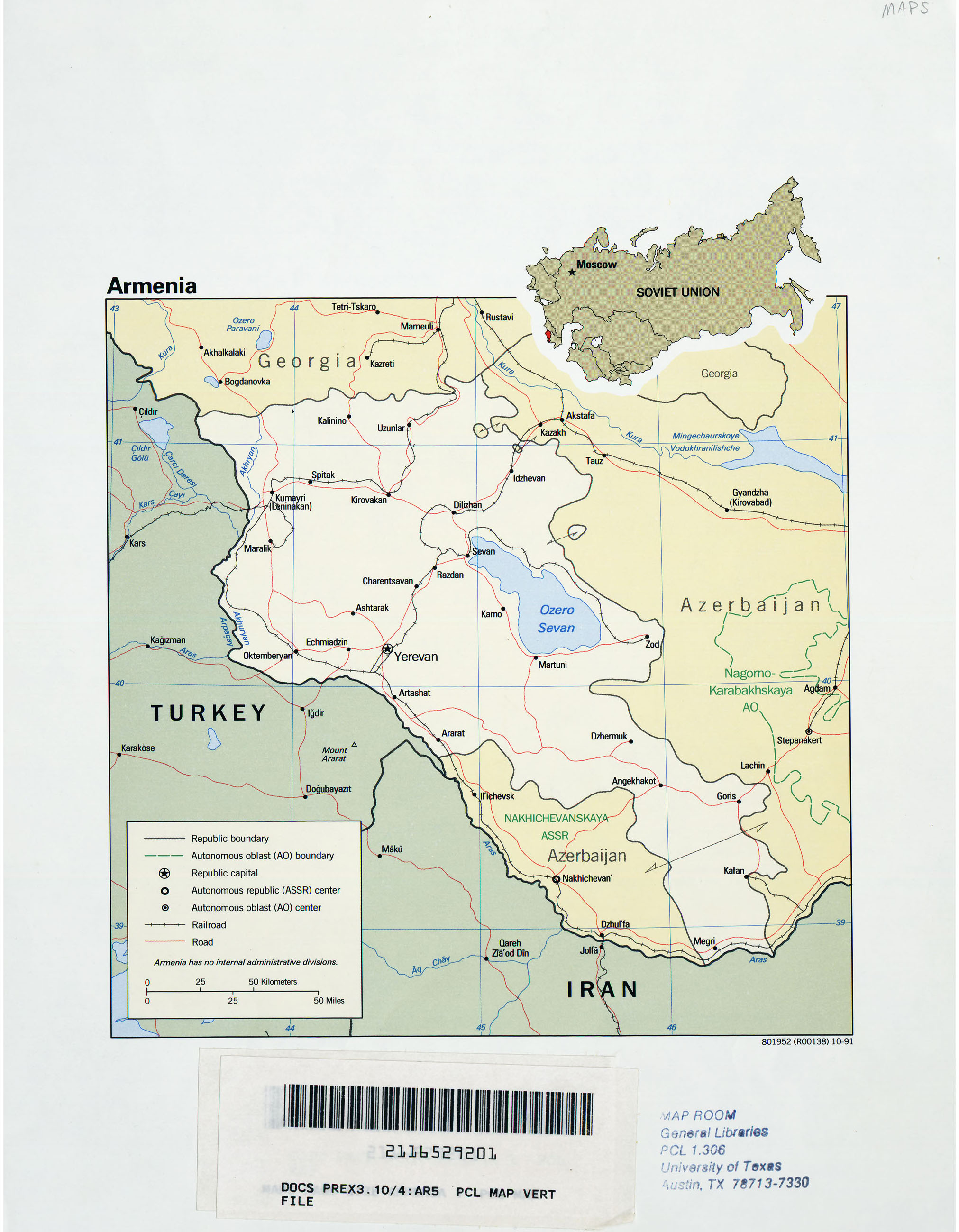 Armenia Maps - Perry-Castañeda Map Collection - UT Library ...