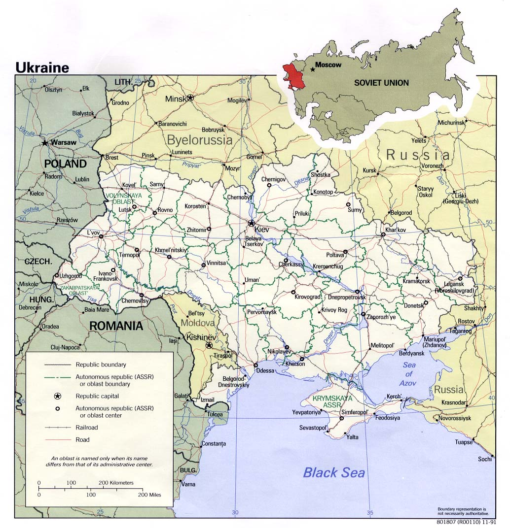 Ukraine Maps Perry Castaneda Map Collection Ut Library Online