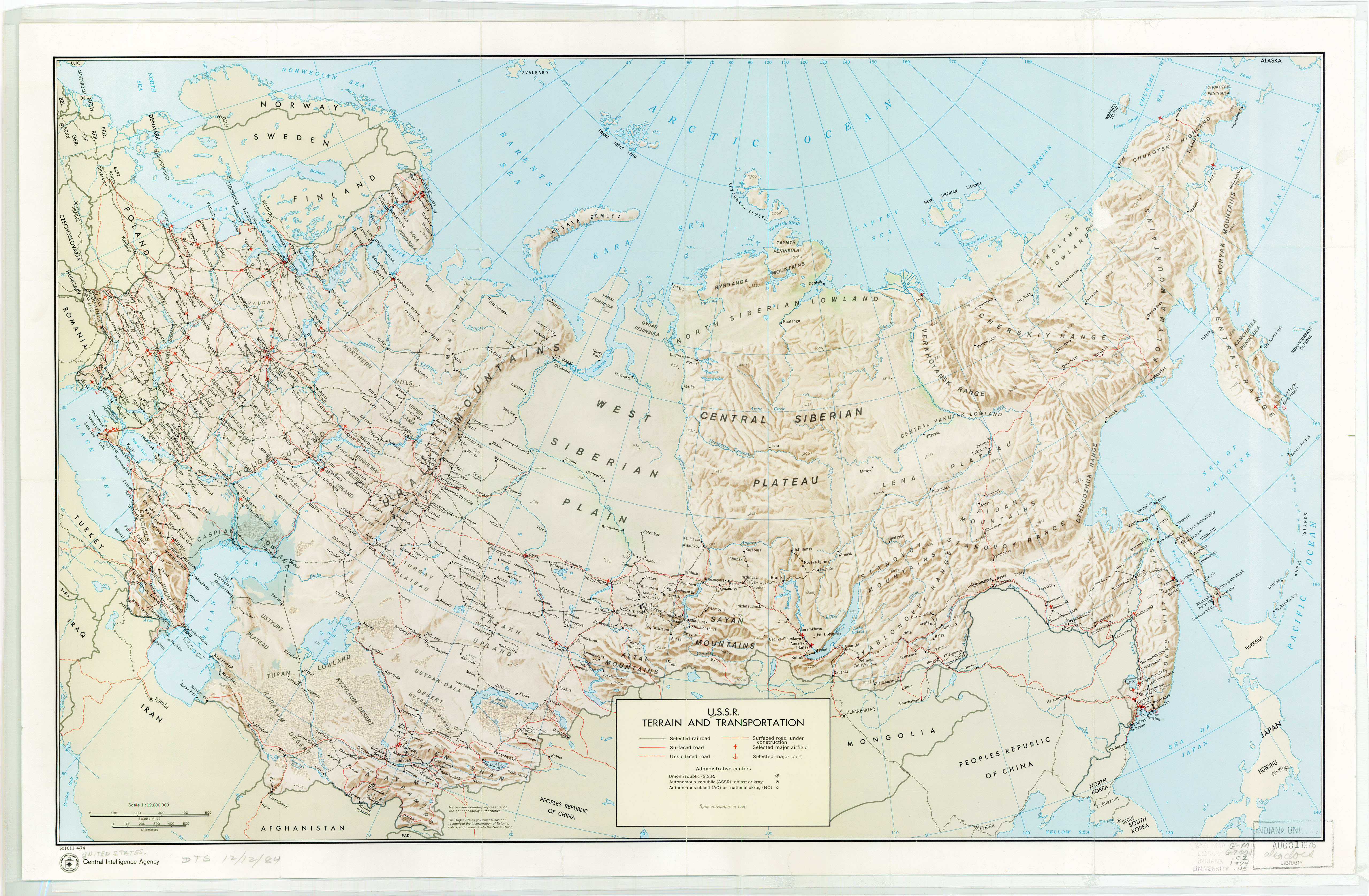Russia And The Former Soviet Republics Maps PerryCastañeda Map - Us and ussr map