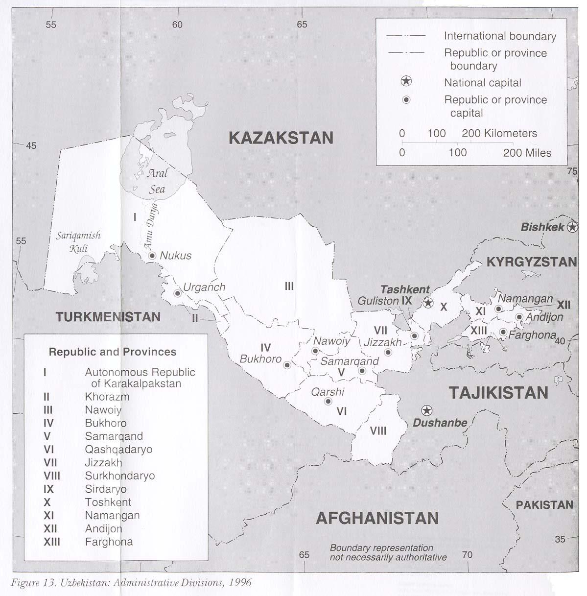 Uzbekistan Maps Perry Casta 241 Eda Map Collection Ut