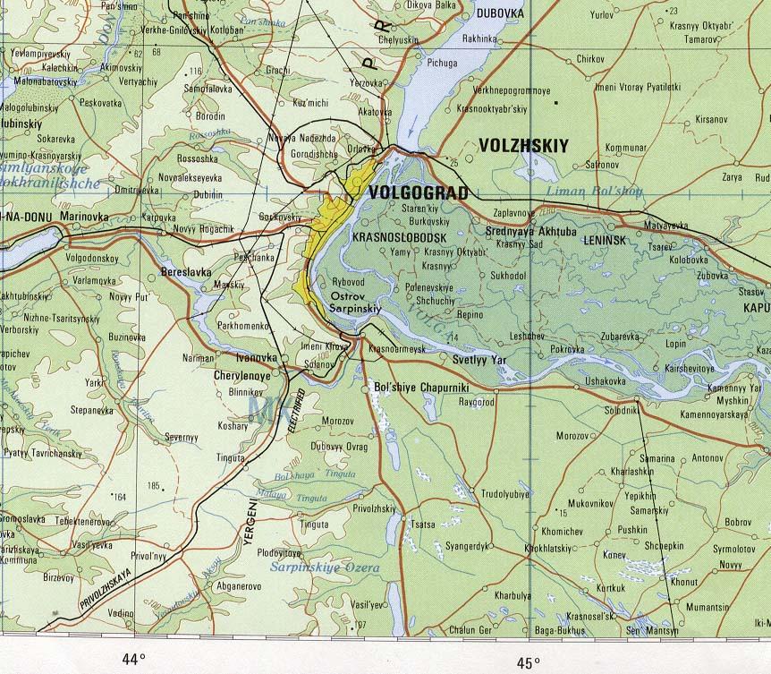 Uzbekistan Maps Volgograd Area