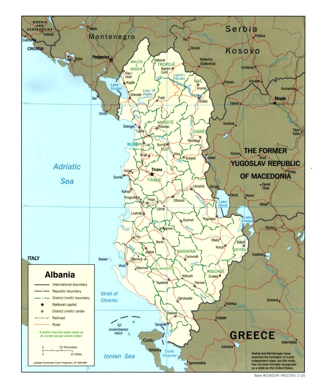 Albania maps perry castaeda map collection ut library online albania maps publicscrutiny Choice Image