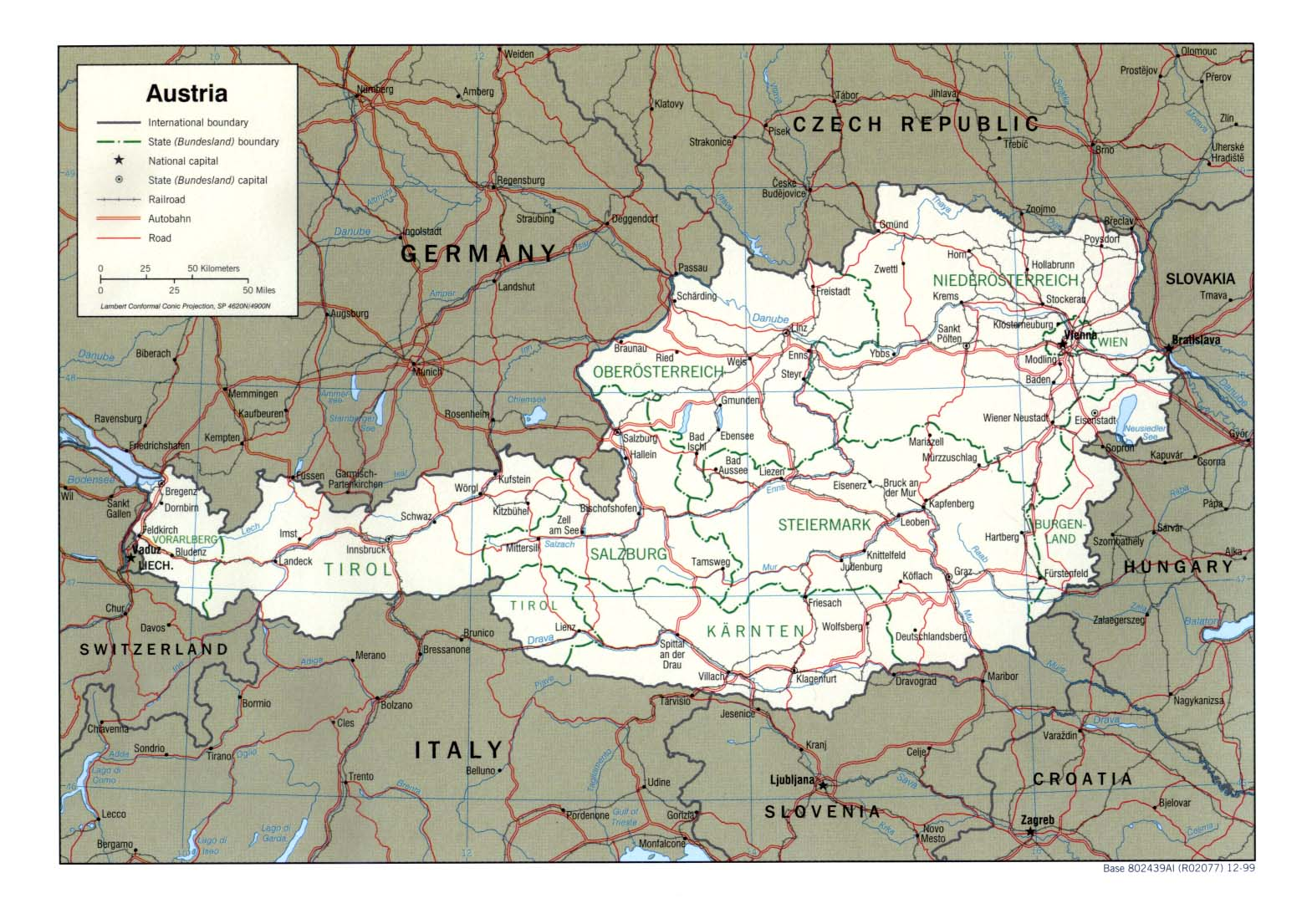 Austria Maps PerryCastañeda Map Collection UT Library Online - Austria political map