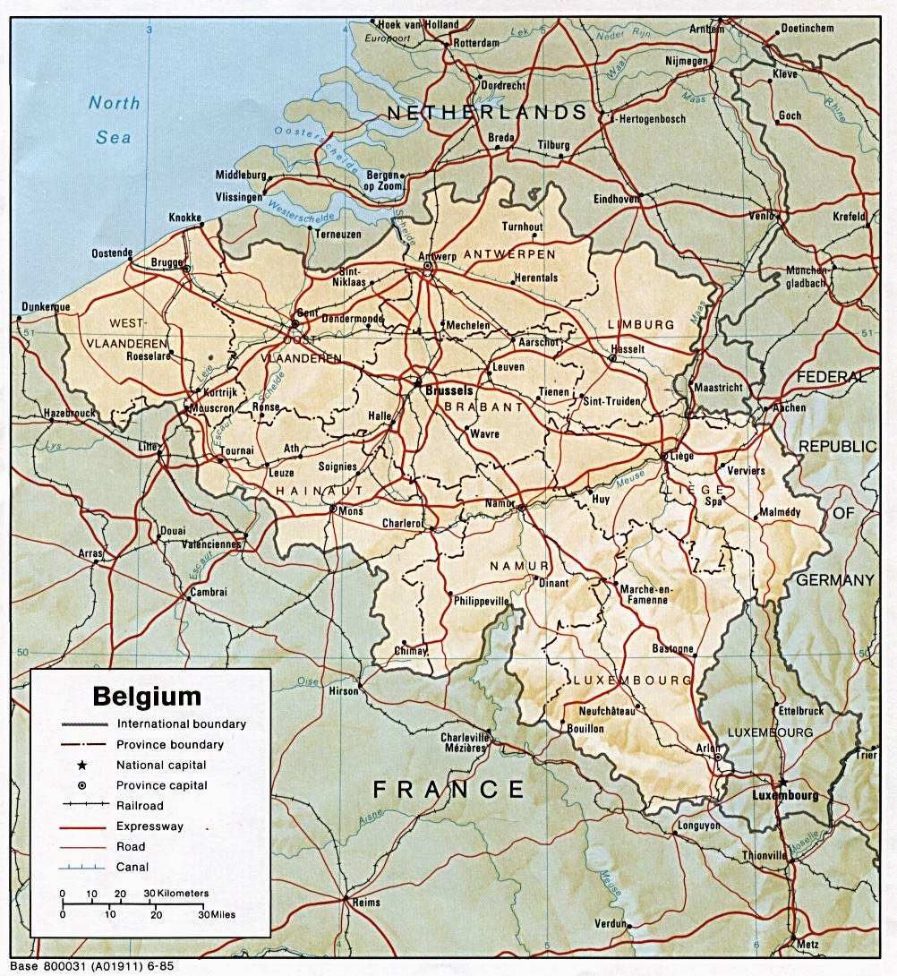 Belgium map, travel information, holidays & flights