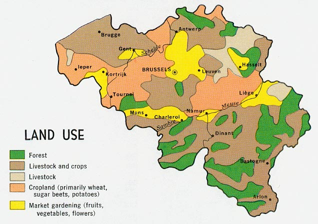 belgium land use from map no