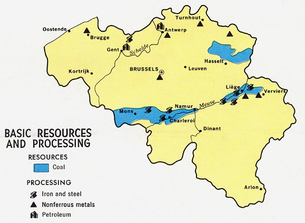 belgium basic resources and processing