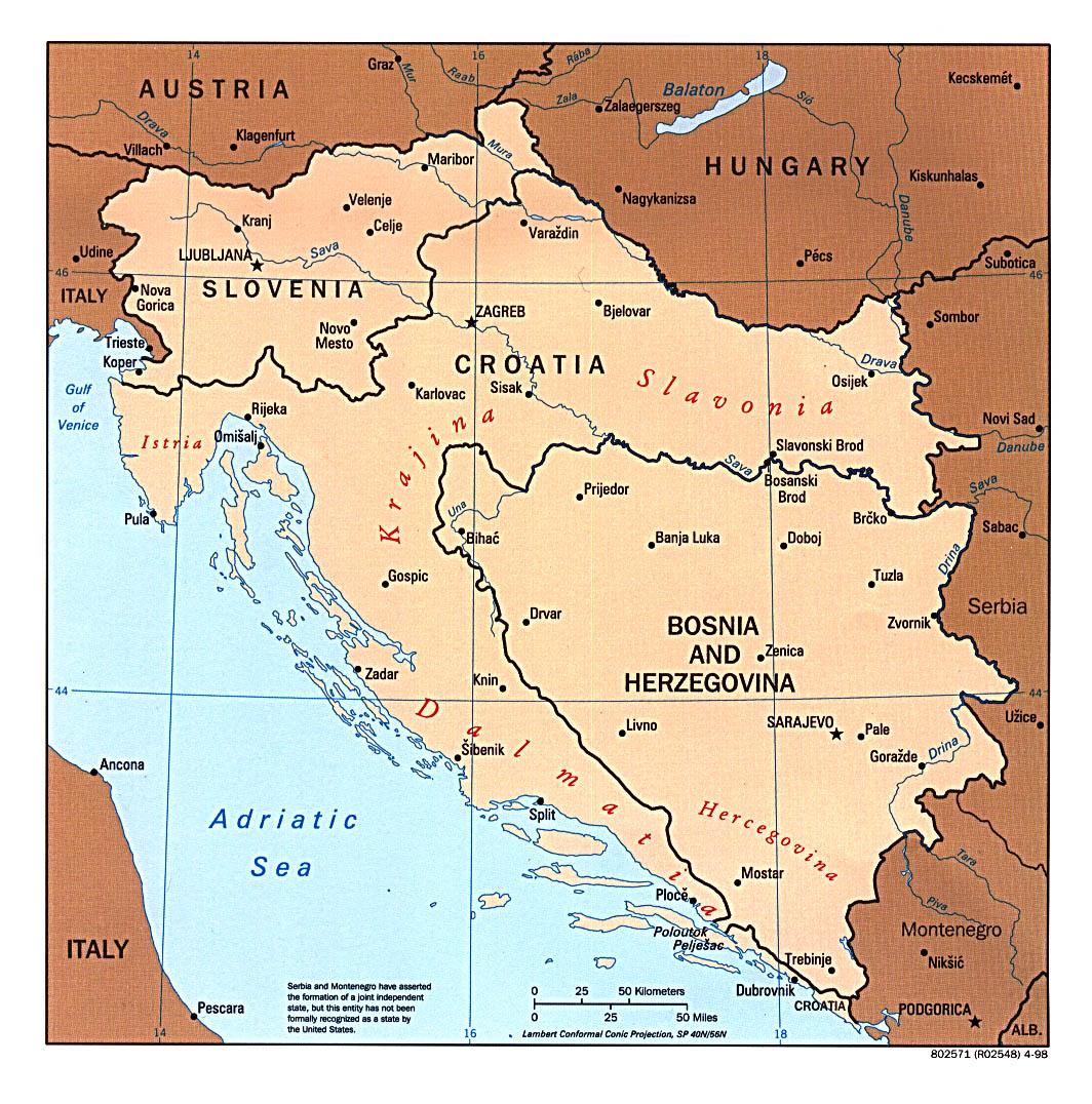 balkan states west bosnia croatia and slovenia