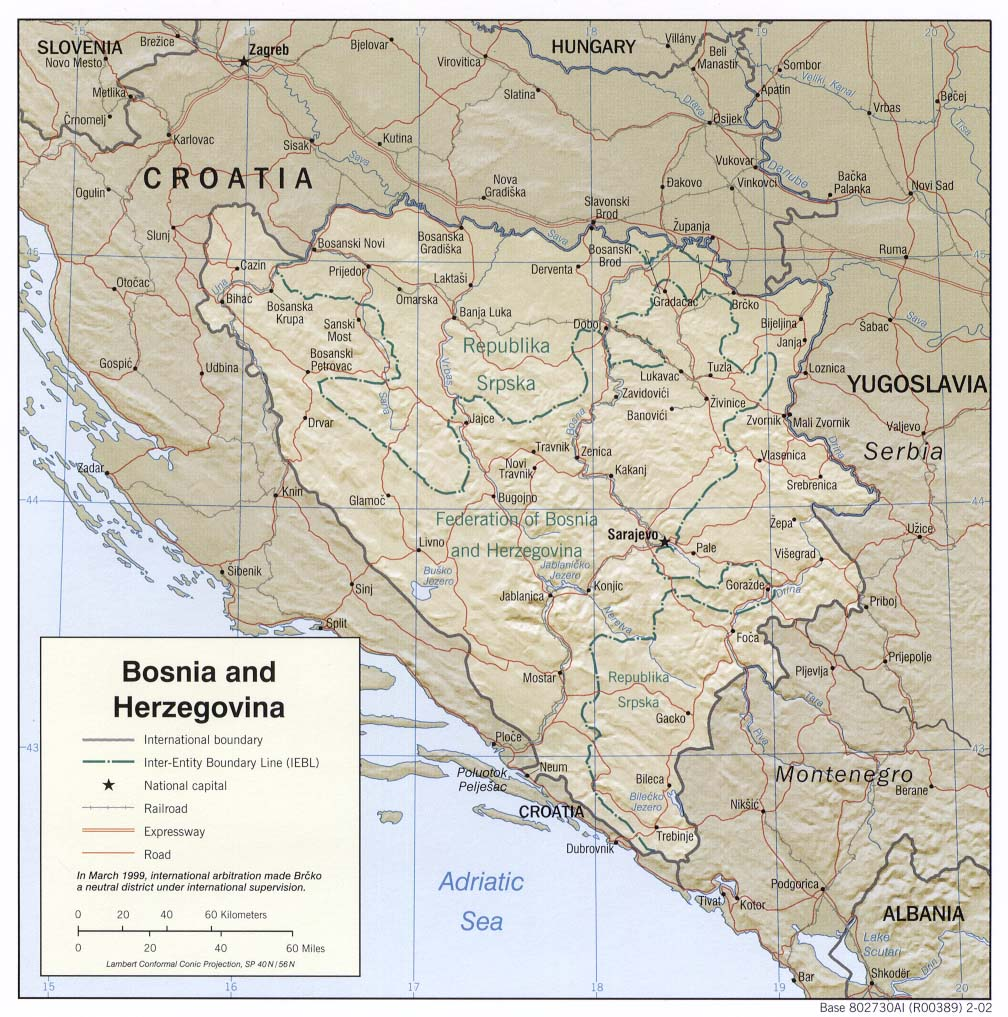 bosnien herzegowina landes bersicht einwohnerzahl fl che landkarte. Black Bedroom Furniture Sets. Home Design Ideas