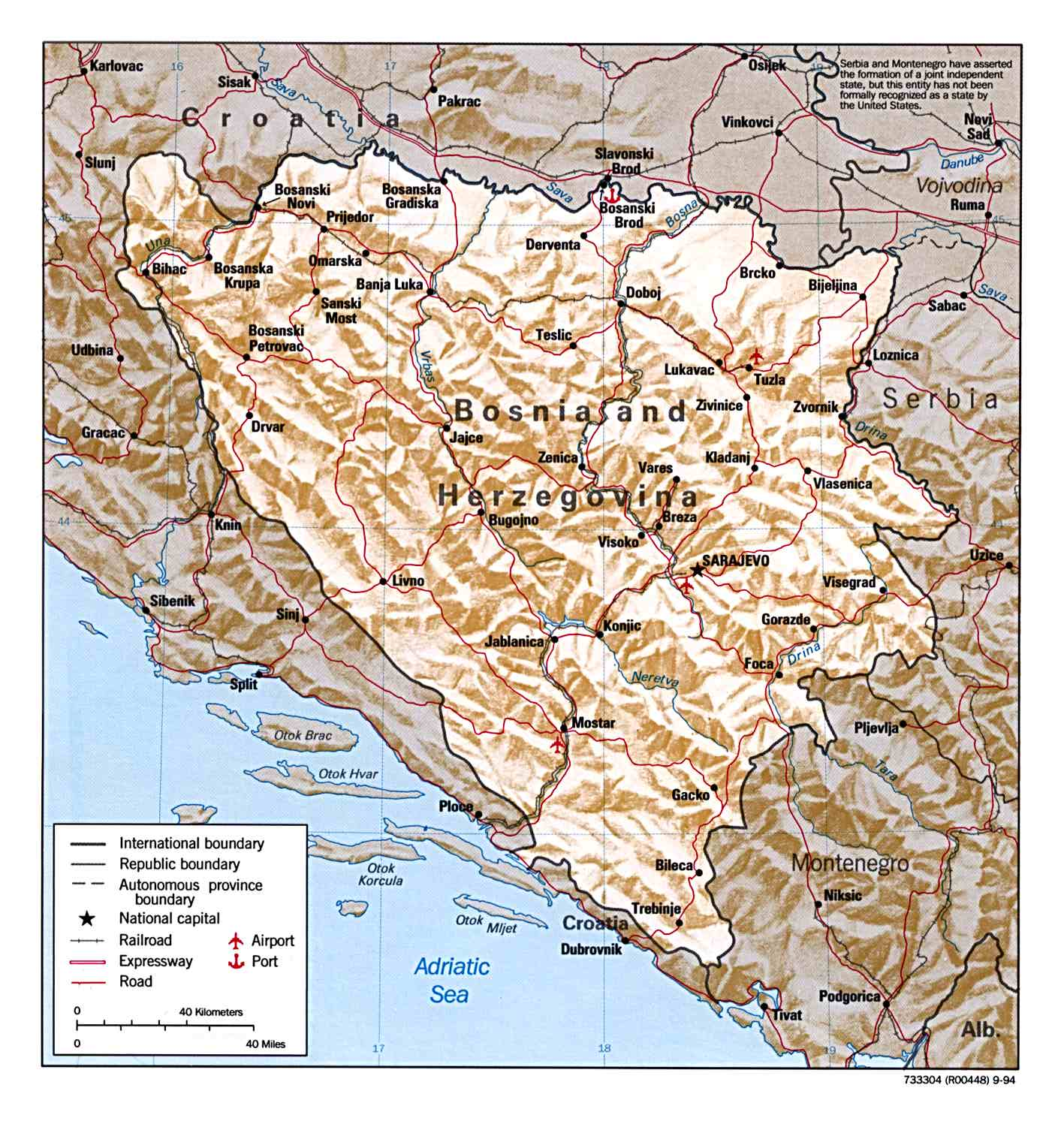 Karta Bosnien Och Hercegovina.Bosnia Maps Perry Castaneda Map Collection Ut Library Online