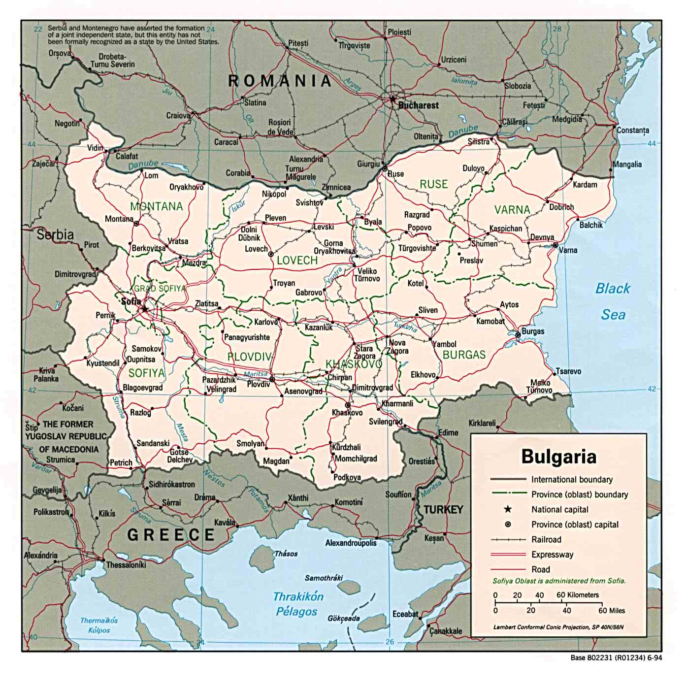 Bulgaria Maps PerryCastaeda Map Collection UT Library Online