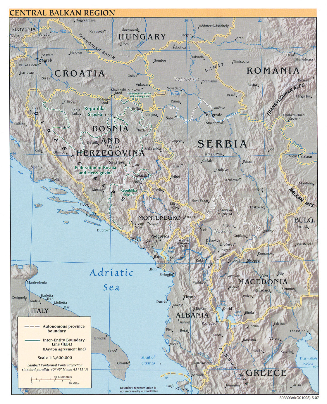 Europe Maps PerryCastañeda Map Collection UT Library Online - Albania physical map 2000