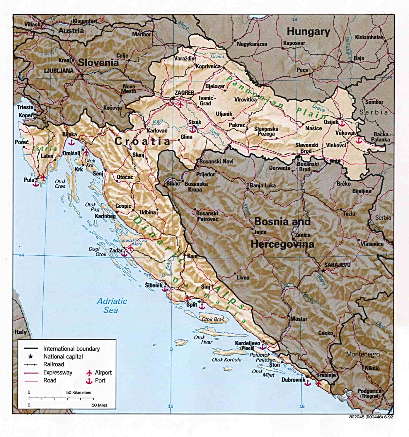 Croatia Maps - Perry-Castañeda Map Collection - UT Library Online