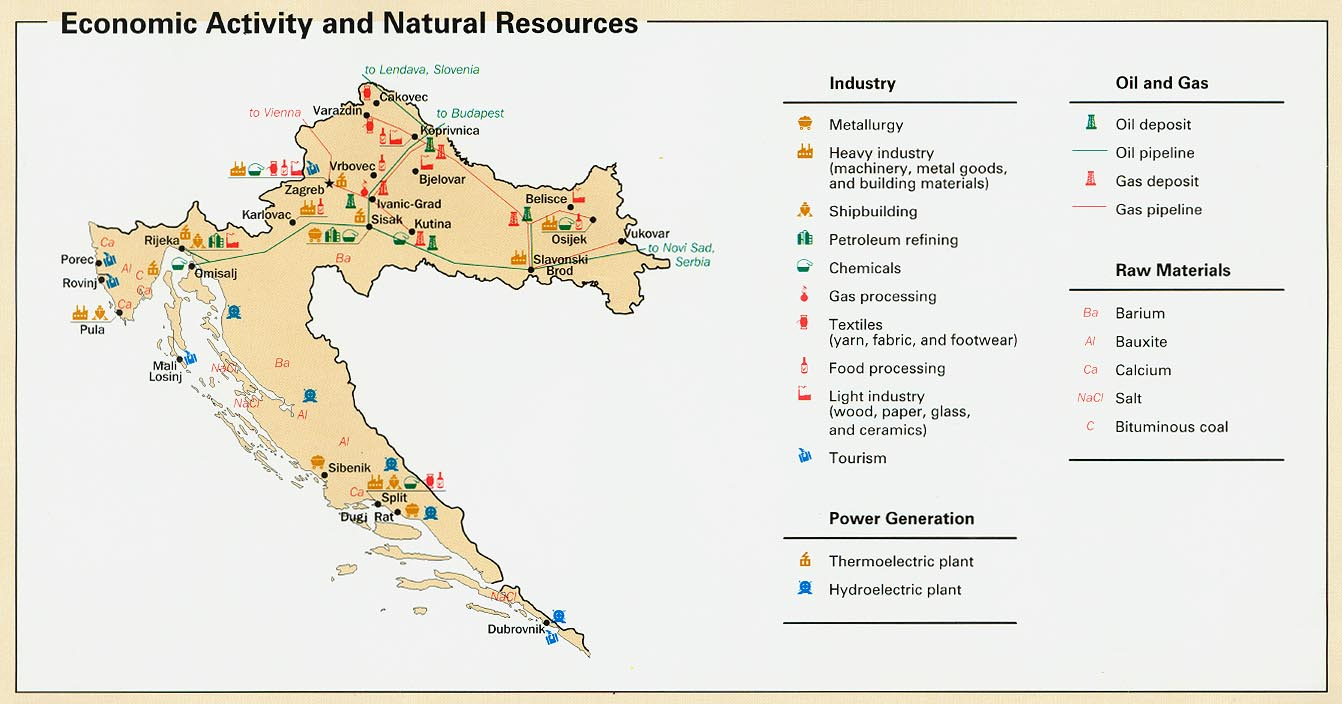 Map Of Texas Natural Resources And Industries