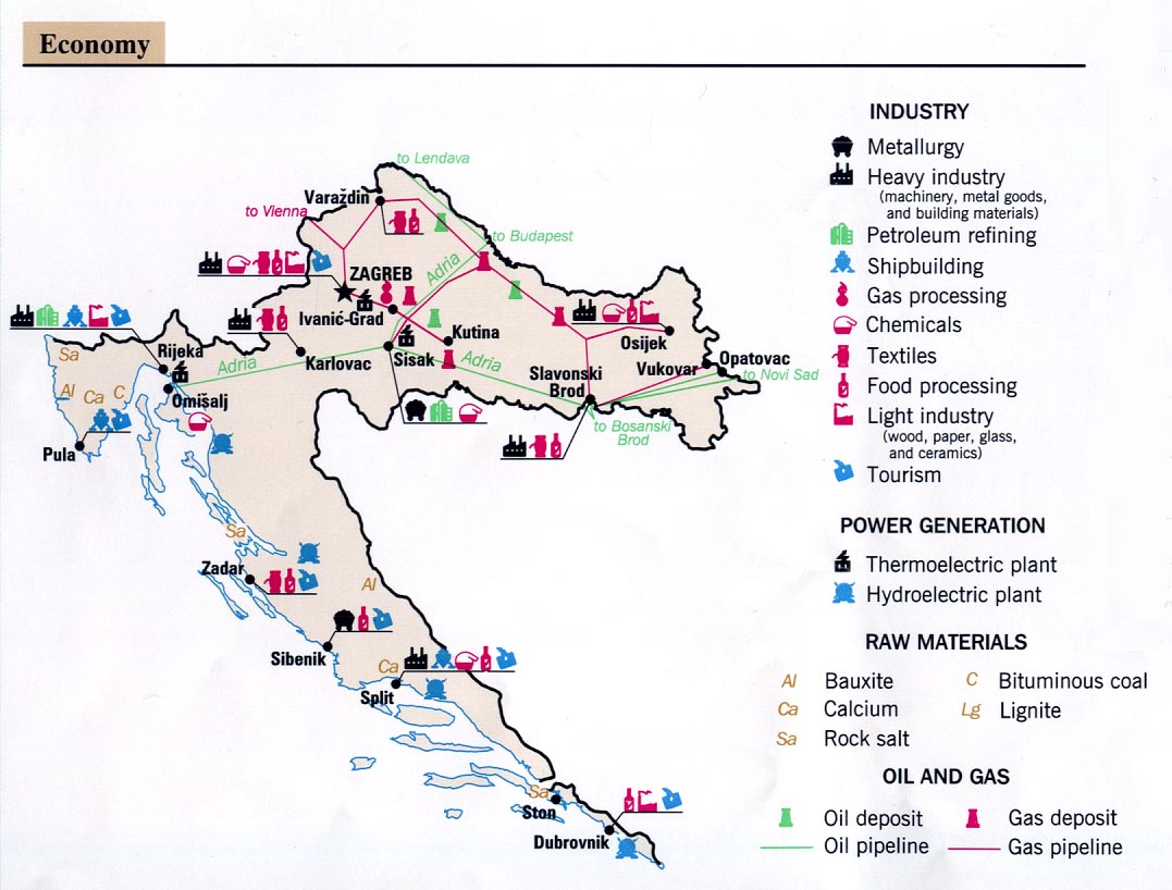 Croatia maps perry castaeda map collection ut library online croatia economy gumiabroncs Images