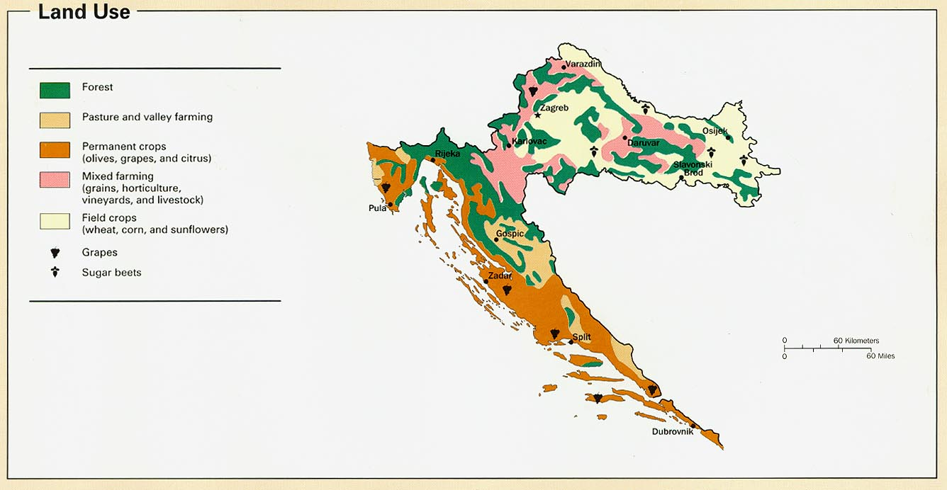 Croatia maps perry castaeda map collection ut library online croatia land use publicscrutiny Images