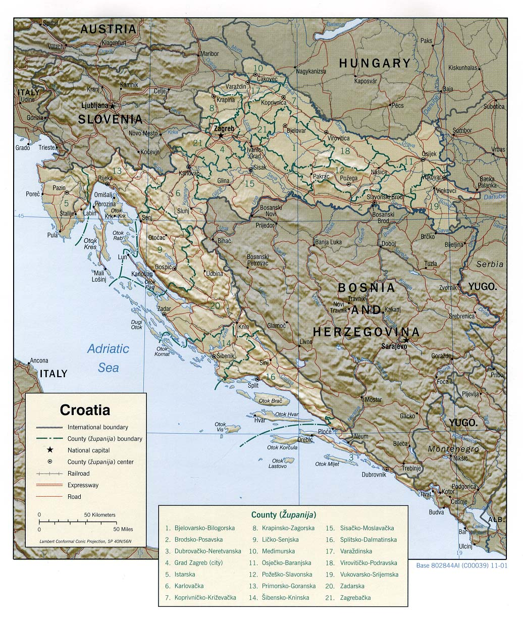 Croatia maps perry castaeda map collection ut library online croatia maps gumiabroncs Image collections