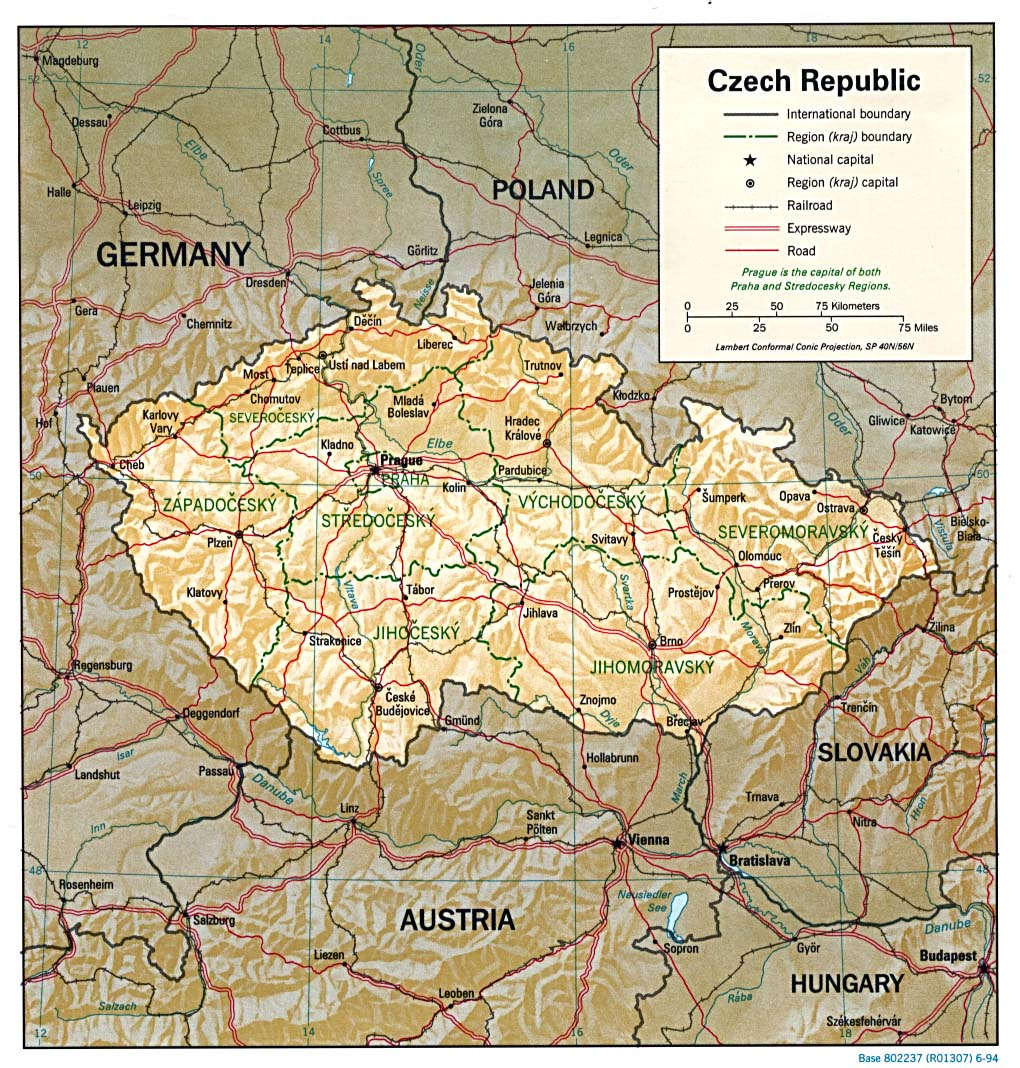 Map Of Czech Republic A Source For All Kinds Of Maps Of Czech - Czech republic map
