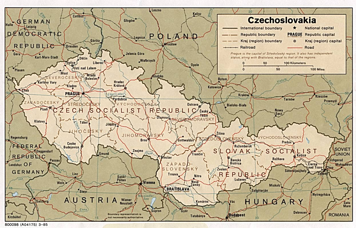 Map Of Czechoslovakia Czech Republic Maps   Perry Castañeda Map Collection   UT Library